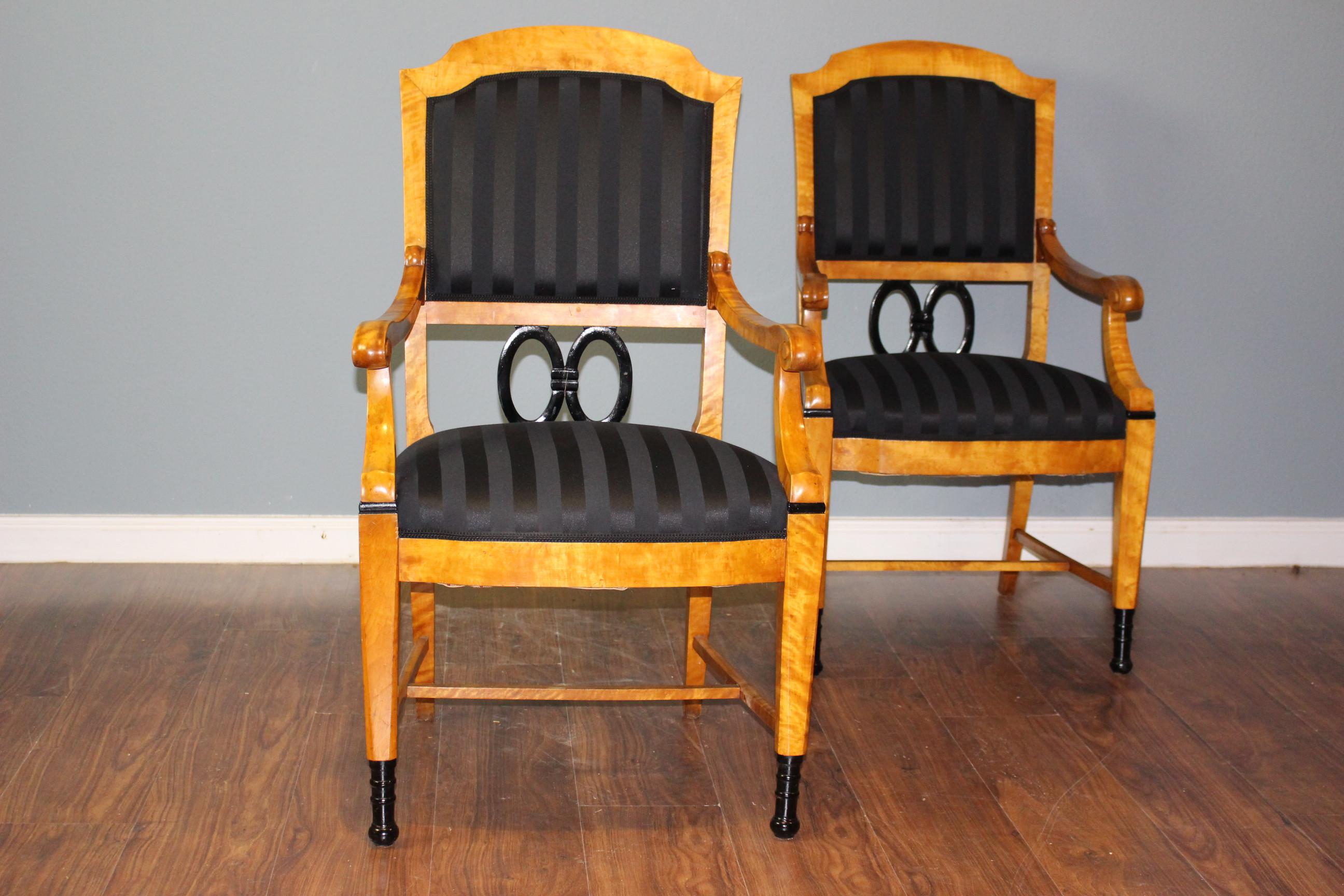 Zwei Sessel Biedermeier Pärchen (Art.-Nr.: 03153)