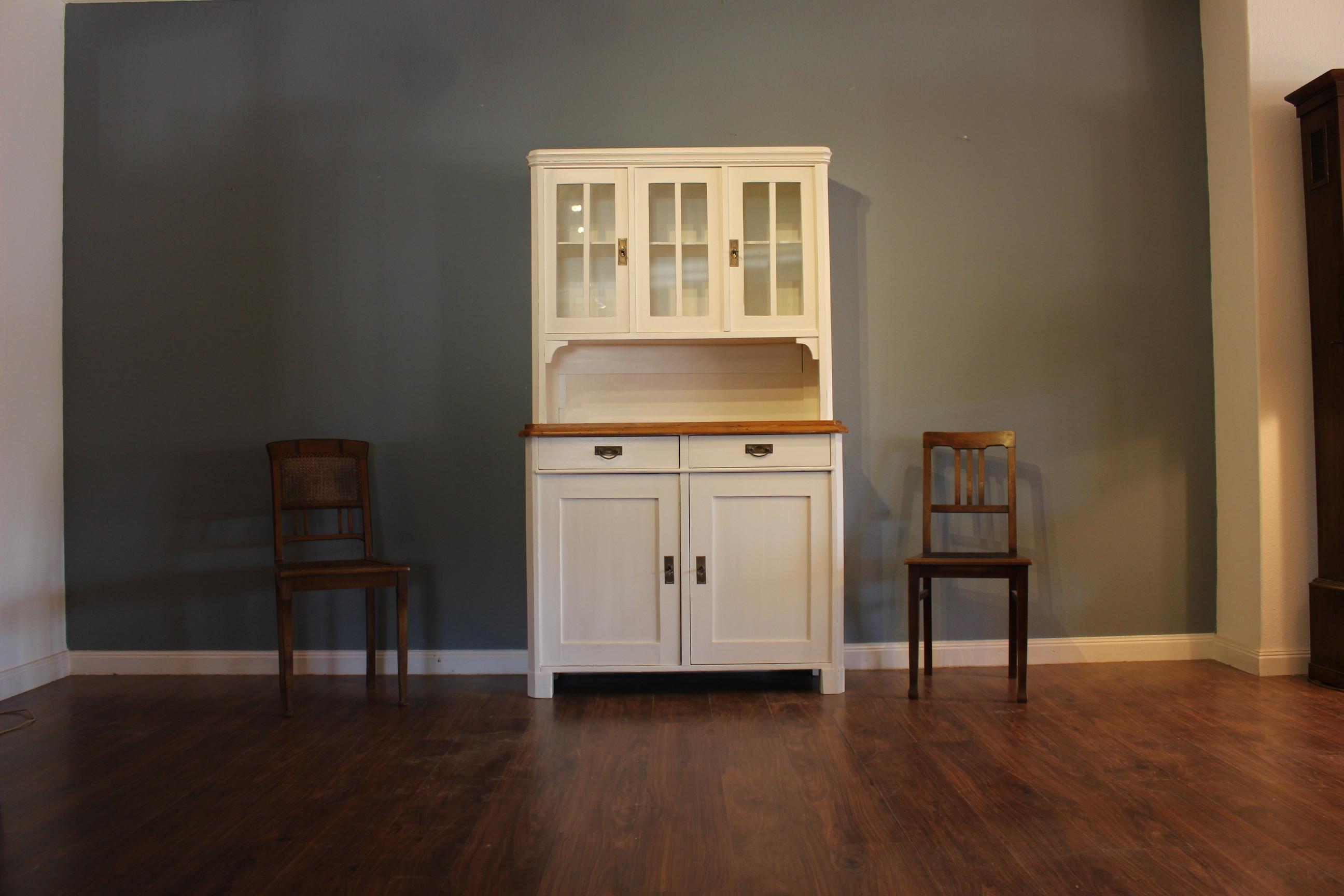 Küchenbuffet Art Deco Kiefer, weiss (Art.-Nr.: 03174)