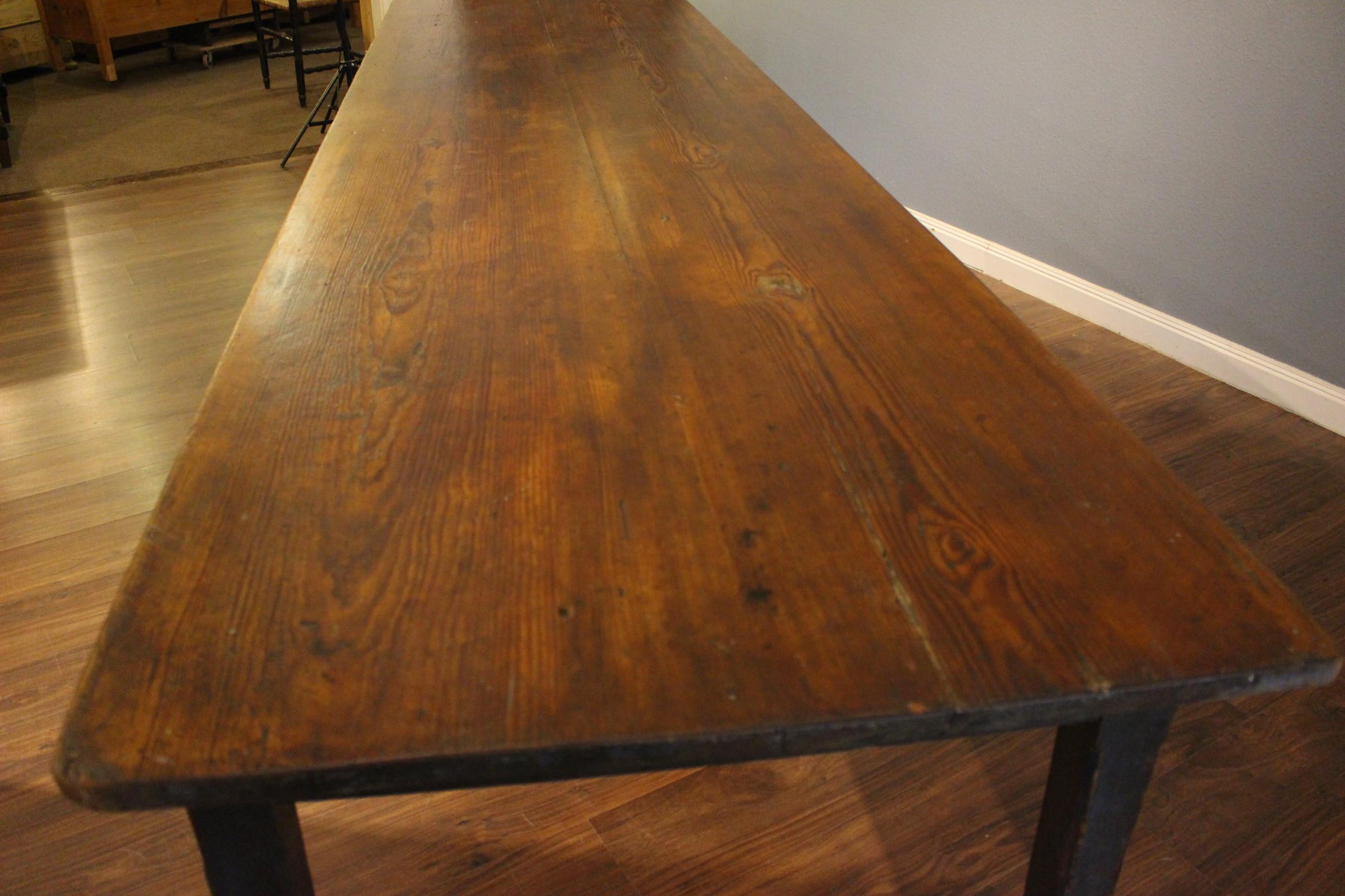 Gesindetisch sehr groß Biedermeier, xxl-Tisch (Art.-Nr.: 03154)