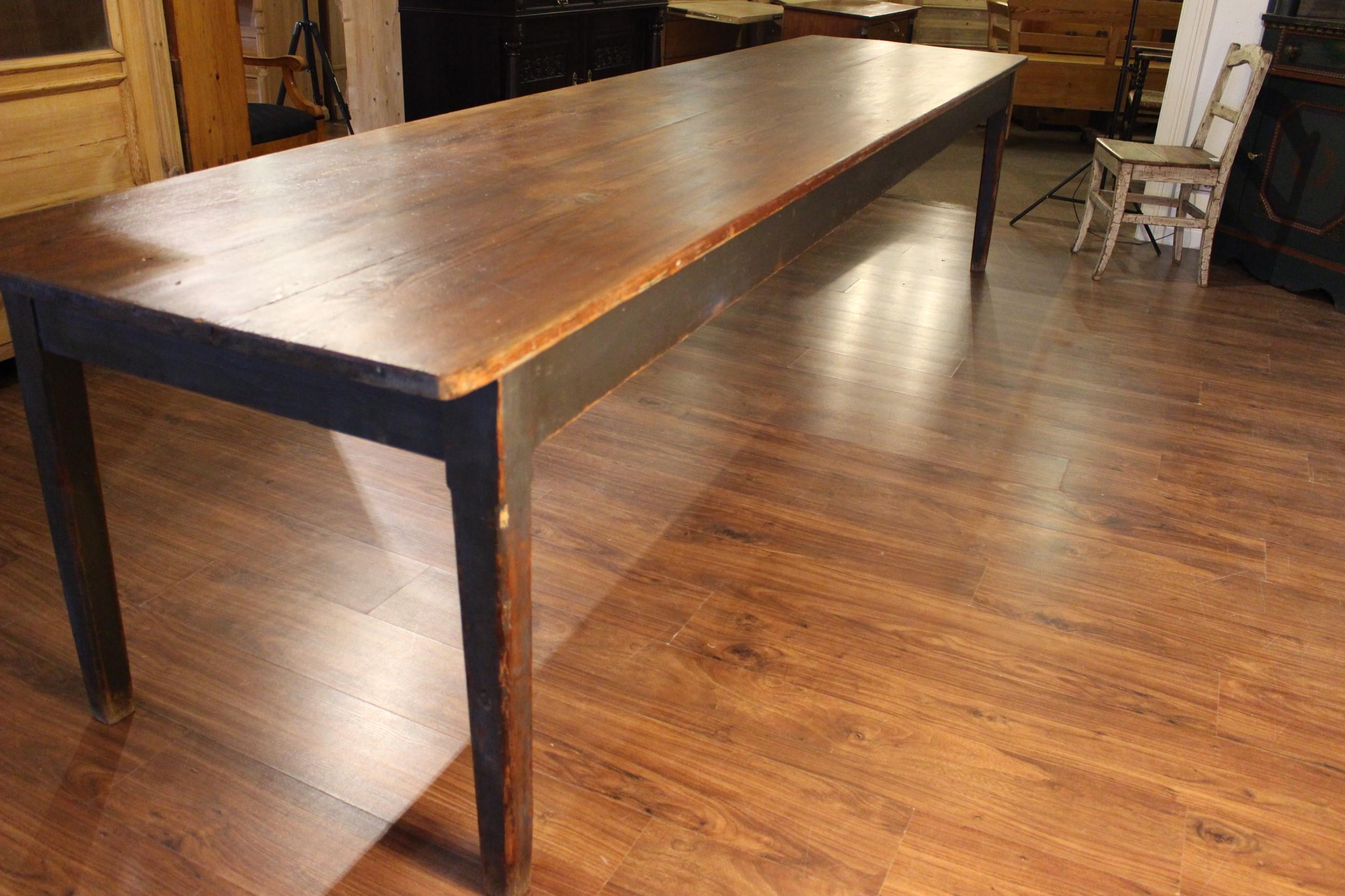 Gesindetisch sehr groß Biedermeier, xxl-Tisch (Art.-Nr. 03154)