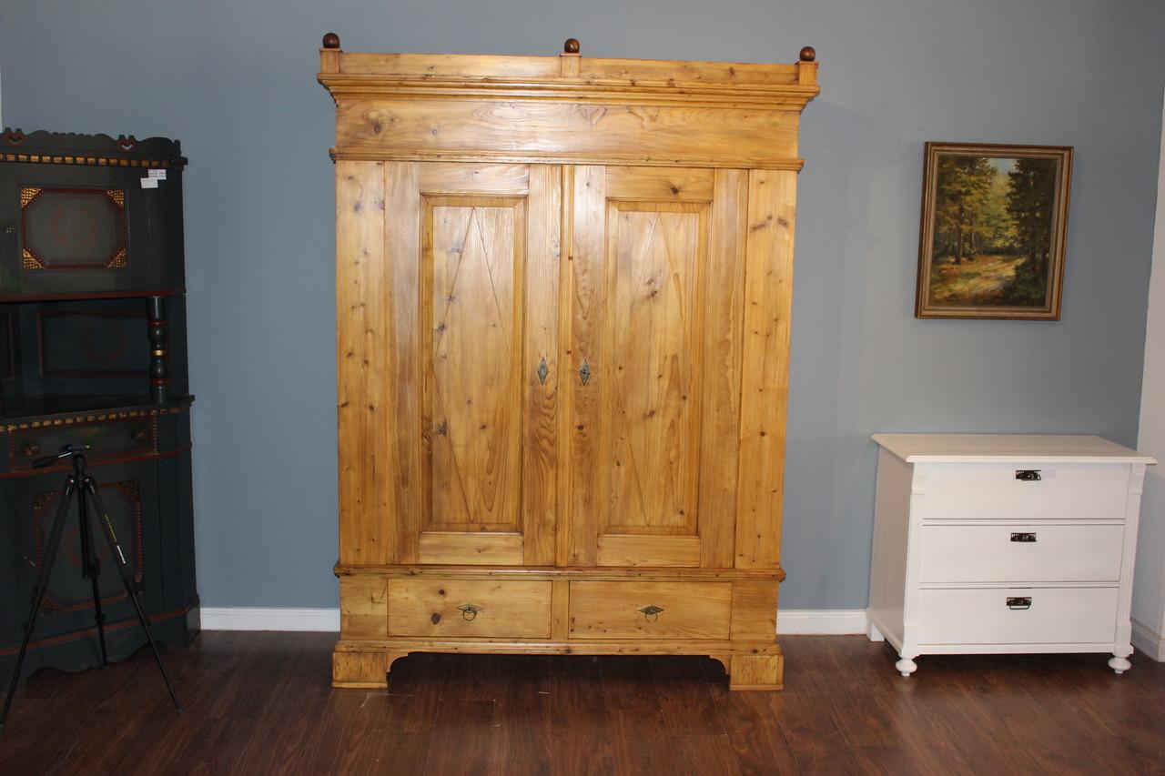 Kleiderschrank groß mit Schubladen und zerlegbar Kiefer honigfarben (Art.-Nr.: 03195)