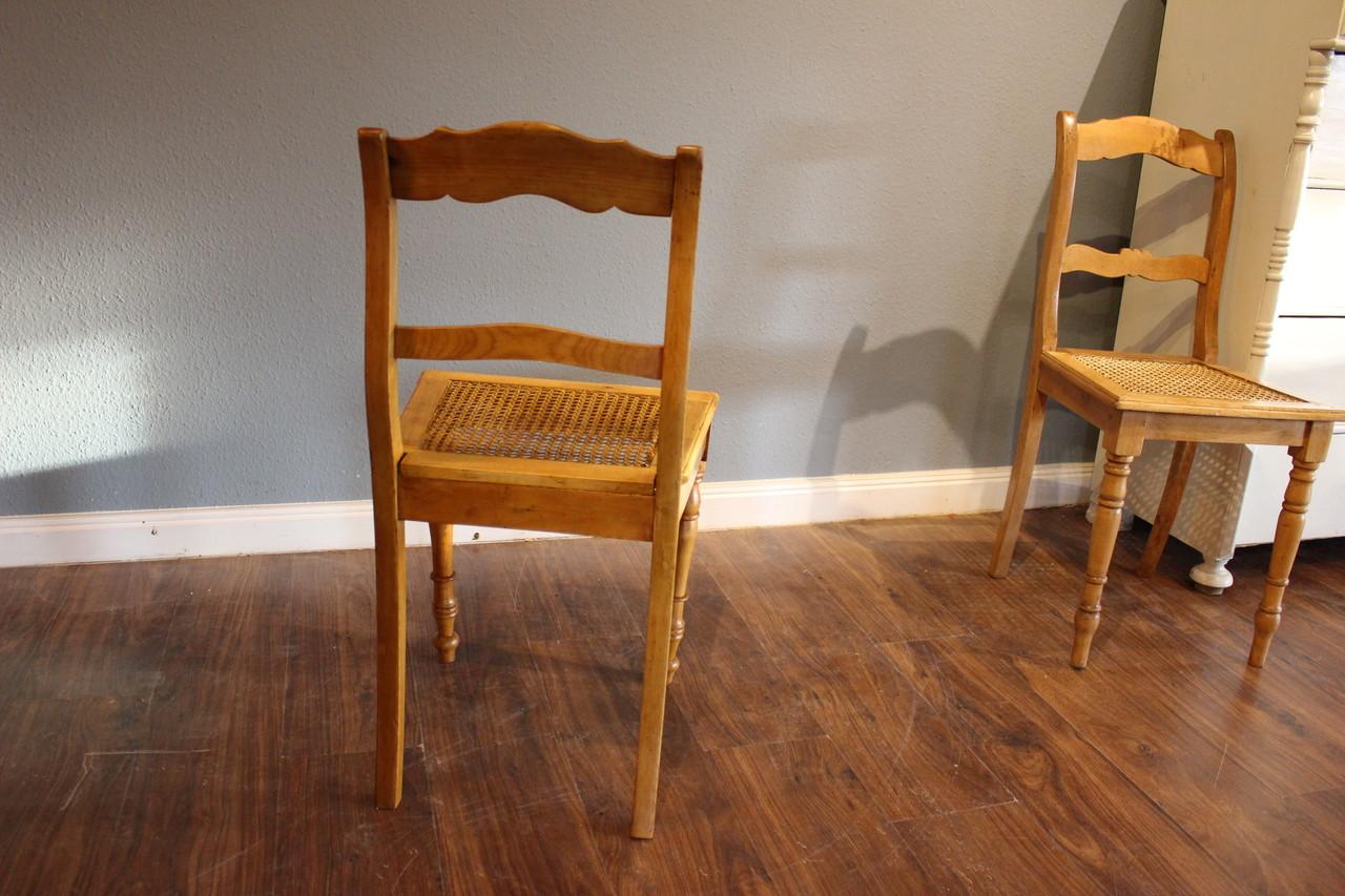 Antike Stuhle Mit Wiener Geflecht