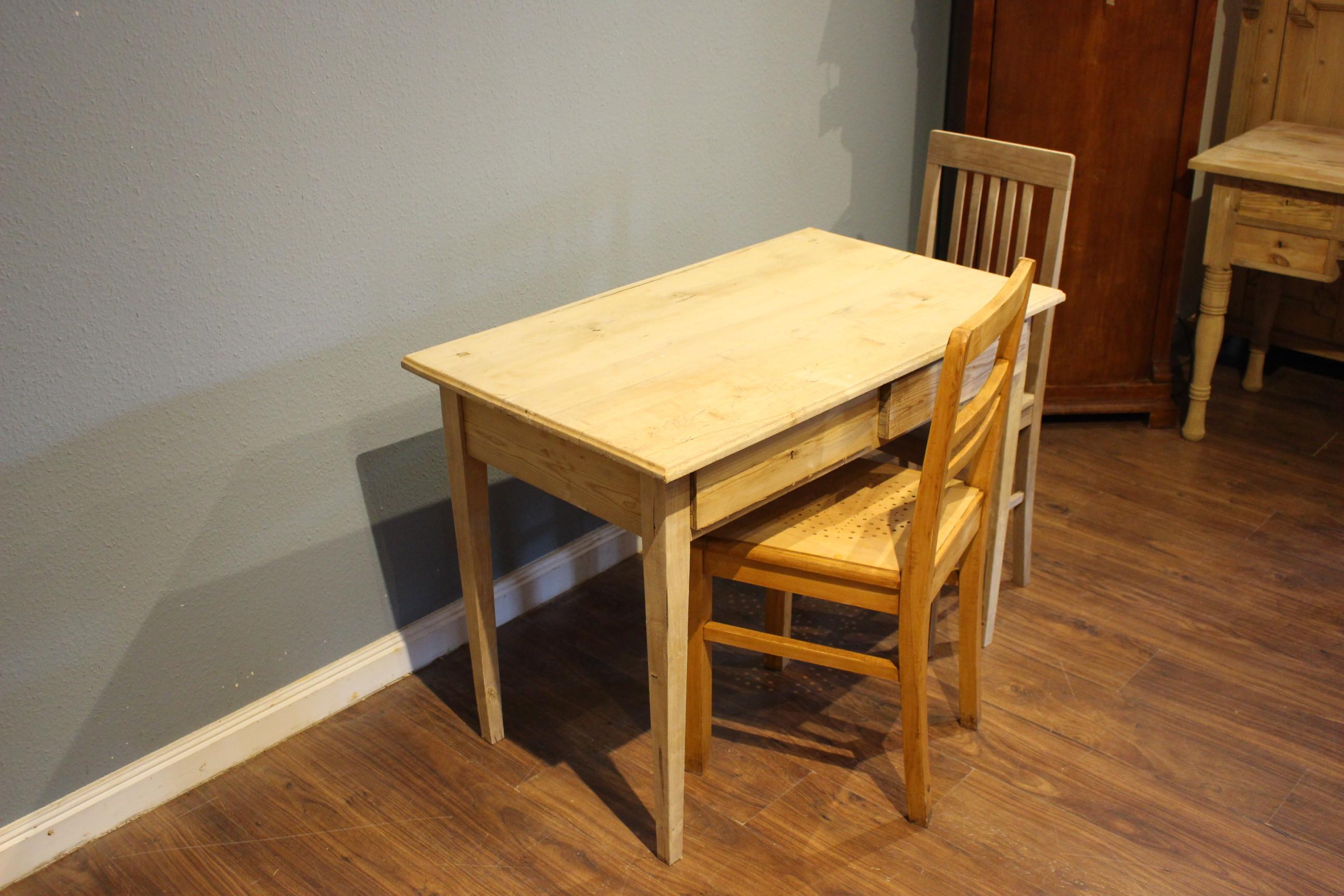 Esstisch, Schreibtisch, Kiefer antik, Biedermeierstil (Art.-Nr.: 03742)