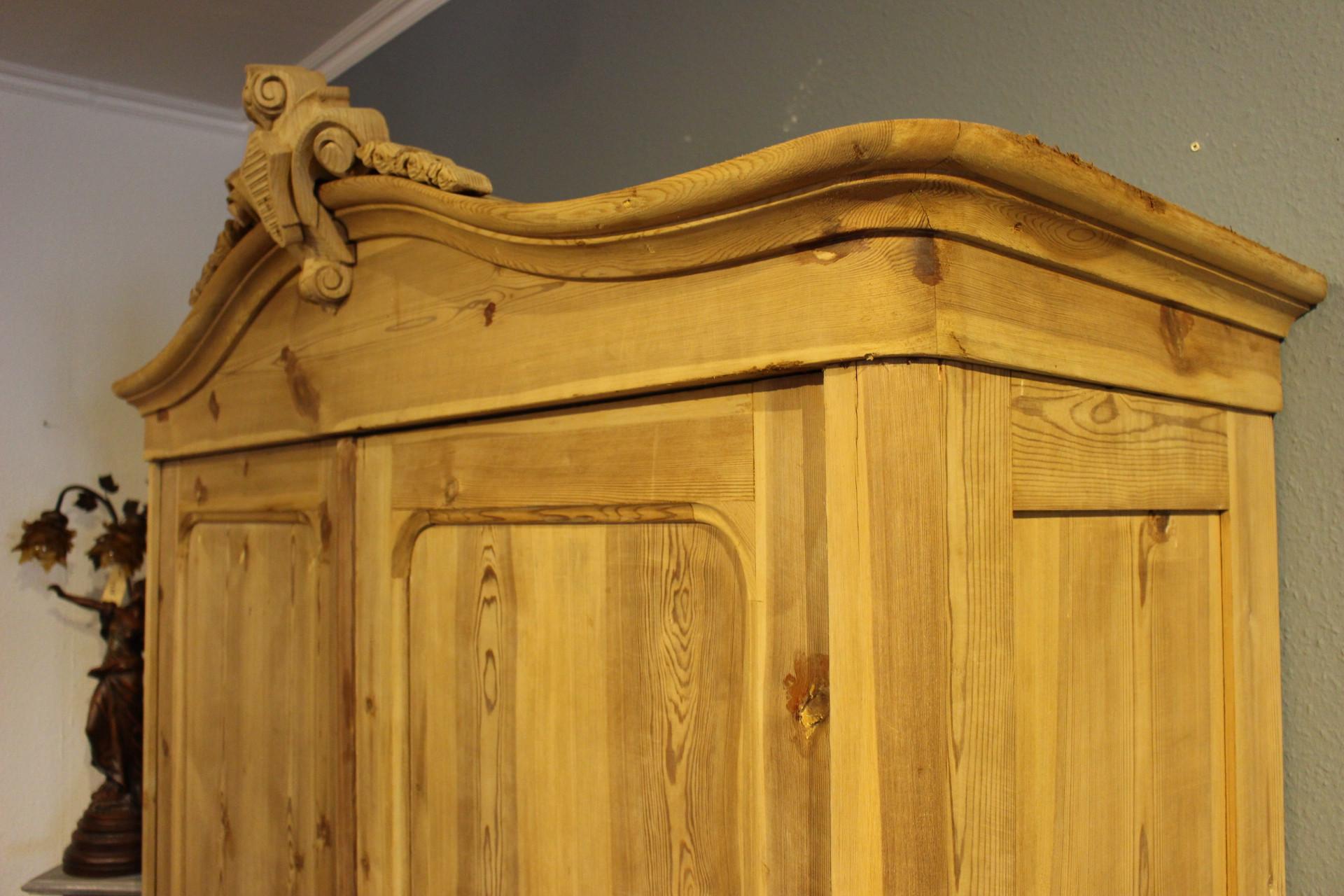 Antik Kleiderschrank Kiefer natur (Art.-Nr. 03472)