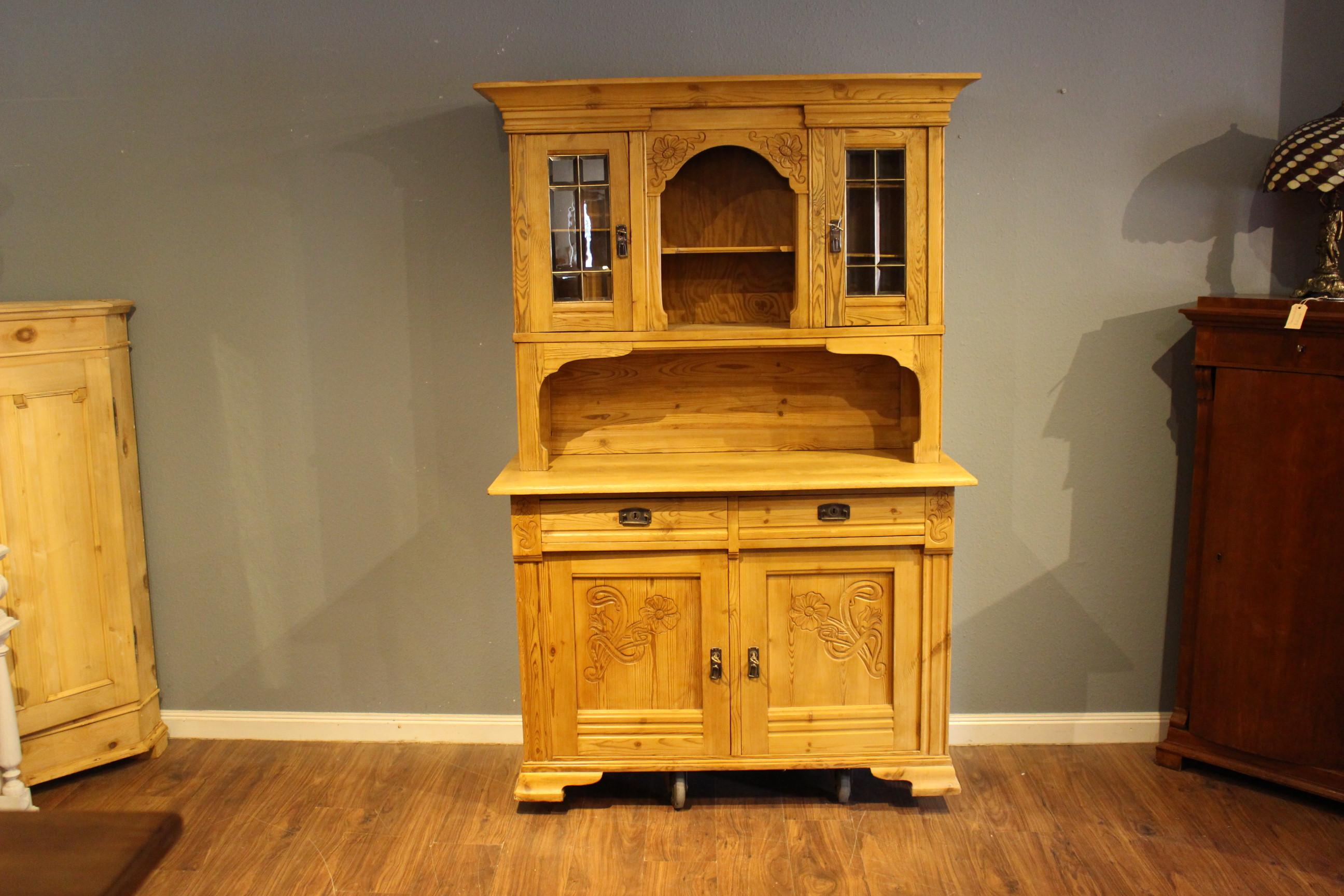 Antiker Küchenschrank, Küchenbuffet, Jugendstil (Art.-Nr.: 03818)