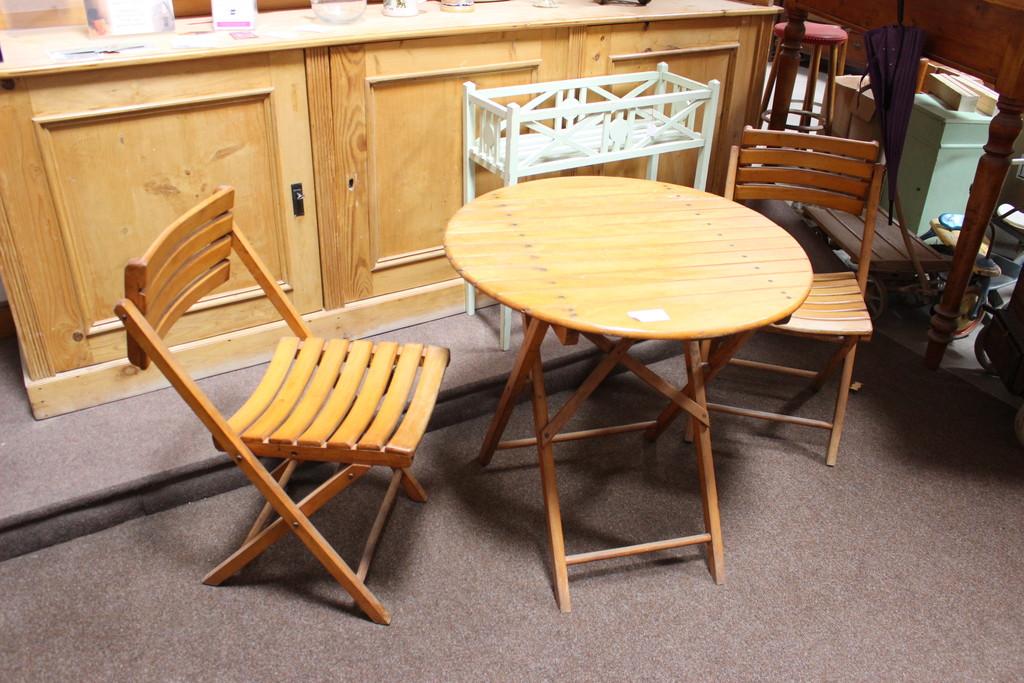 Gartensitzgruppe  Balkontisch mit zwei Stühlen (Art.-Nr.: 03219)