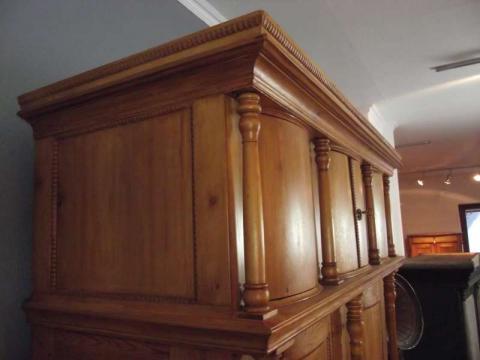 Dänischer Dielenschrank Epoche Biedermeier Holz Kiefer (Art.-Nr. 0627)