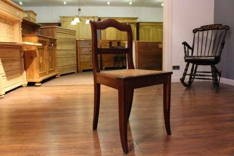 Antiker Biedermeier Stuhl, Buche, mit neuem Geflecht (Art.-Nr.: 02489)