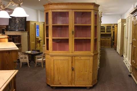 Alte Vitrine Bücherschrank eingetroffen (Art.-Nr.: 02900)