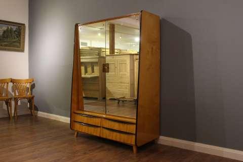 1950er Jahre Spiegelkabinett  Midcentury Hochglanzpolitur RESERVIERT (Art.-Nr. 02936)