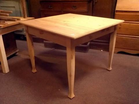 Jugendstil Esstisch Küchentisch Tischplatte und Gestell in Kiefer (Art.-Nr.: 01149)